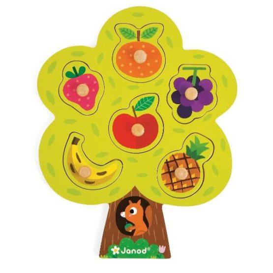 Puzzle din lemn Fructe,Janod