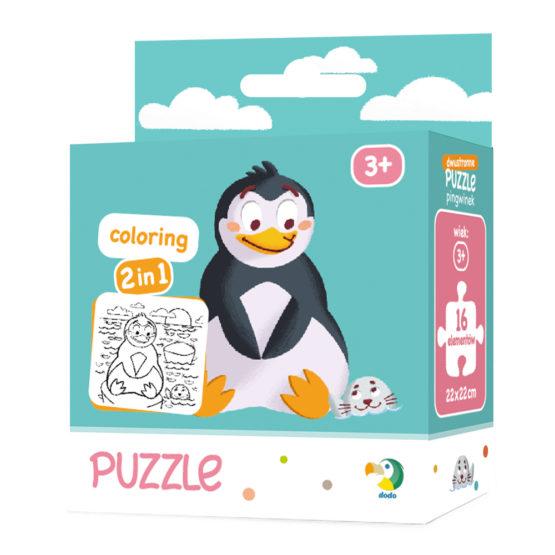 Puzzle de colorat 2 in 1 – Pinguin