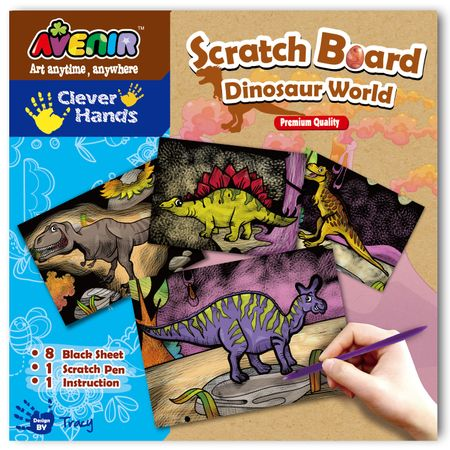 Set pentru  sgraffito – Lumea dinozaurilor
